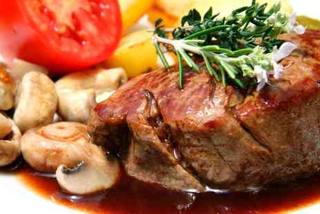 Monte Carlo Hoylake - Steak Meal with Sides and Optional Wine for Two - Save 47%