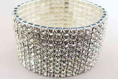 Aneeks - Bracelet Made With Sparkling Crystals - Save 80%