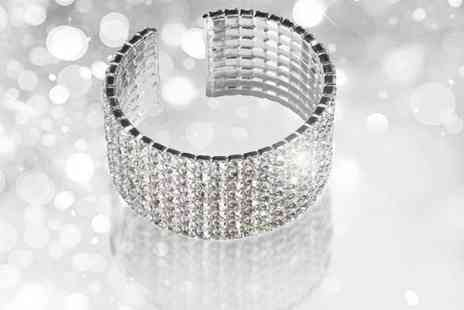 Aneeks - Sparkling Seven Row Crystal Cuff - Save 80%