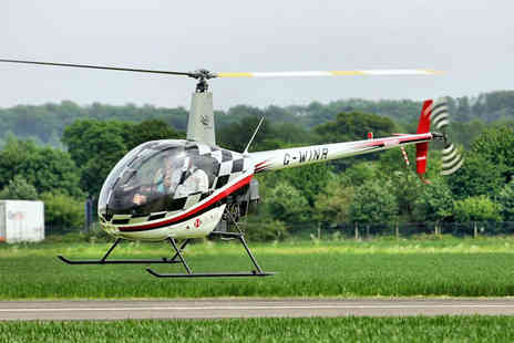 Heli Air - Introductory Helicopter Flying Lesson with Time at the Controls  - Save 43%