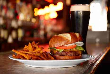 Cured - A Burger of Choice and a Pint of Beer or a Soft Drink for Two - Save 64%