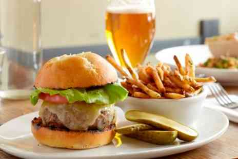 The Galleon MK - Burger Meal with Drinks with Wine or Beer For One - Save 46%