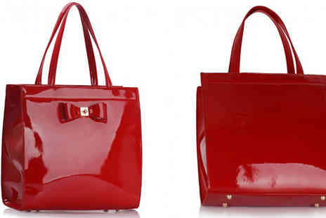 Dixi Deals - PU Leather Tote Bag with Bow Decoration Five Colours - Save 68%