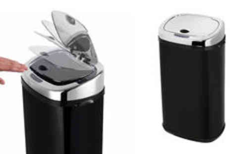 Crampton and Moore - Morphy Richards 42L square sensor bin in a choice of colours - Save 0%