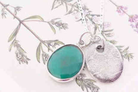 Cartres - Sterling silver personalised fingerprint necklace plus delivery - Save 0%