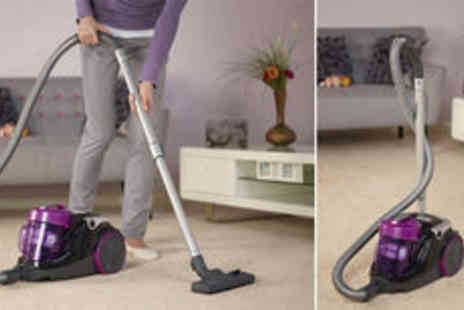 Crampton and Moore - 1.5L Hoover Spirit cylinder vacuum cleaner in purple and black Plus FREE delivery - Save 0%