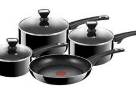 Meadow Vale - Jamie Oliver by Tefal four piece saucepan set plus delivery  - Save 0%