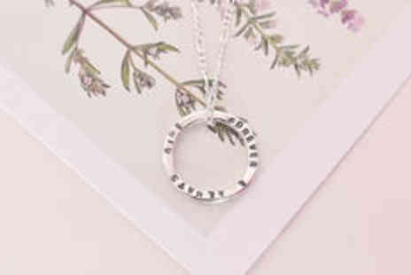 Cartres - Sterling silver personalised message necklace plus delivery - Save 0%