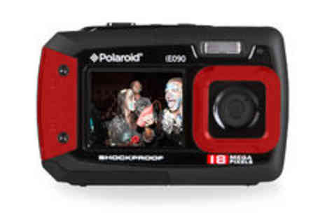 Sonic UK - Polaroid IE090 18MP waterproof camera in red plus delivery  - Save 0%