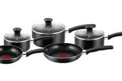 Meadow Vale - Tefal Essential five piece pan set  plus delivery - Save 0%