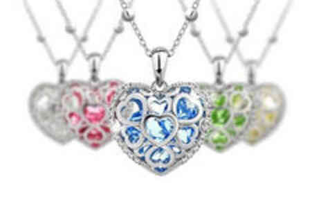 Cartres - Heart pendant necklace in choice of colours plus delivery - Save 0%