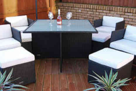 London Rattan - Chelsea rattan effect cube dining set Plus FREE delivery - Save 0%
