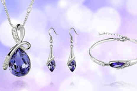 Gevani - Silver-plated crystal jewellery sets  plus delivery - Save 0%