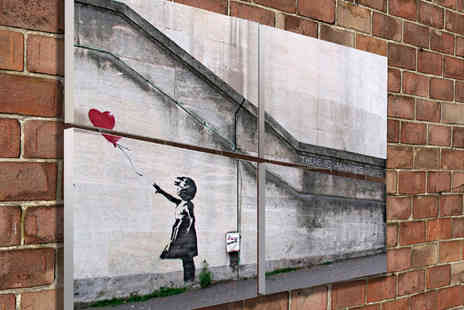 The Creative Canvas Company - Medium or Large Banksy Tiled Canvas - Save 67%