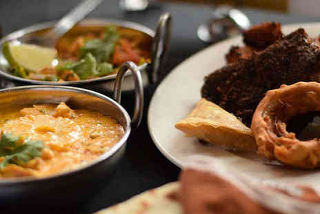 Gold Leaf - Starter and Main Course Each with Rice and Naan to Share for Two  - Save 48%
