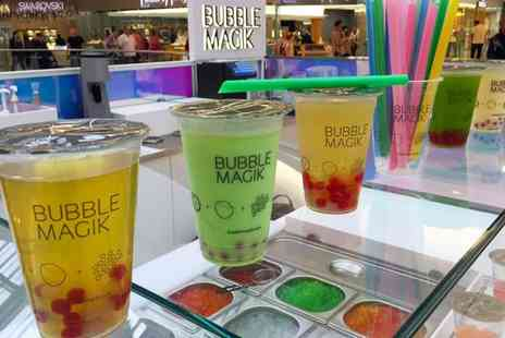 Bubble Magik - Two Bubble Teas with a Choice of Topping  - Save 40%