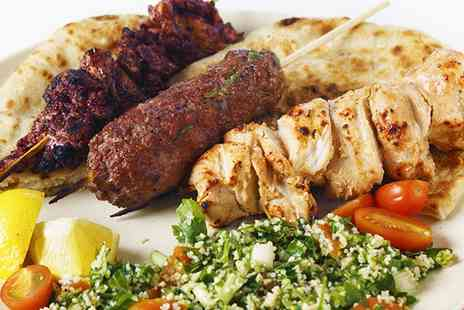 The Pachas - Two Course Moroccan Meal with Wine for Two  - Save 60%