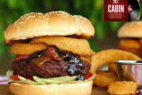 The Cabin Cocktail Bar - Burger and Cocktail for Two  - Save 52%