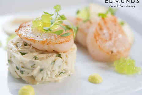 Edmunds Fine Dining - Three Course Lunch for Two   - Save 51%