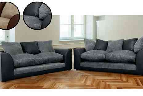Abakus Direct - Dylan 2 & 3 Seater Sofa Suite - Save 61%
