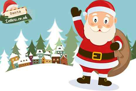 Santa Letters - Personalised Letter from Santa journey map certificate & activity pack  - Save 50%