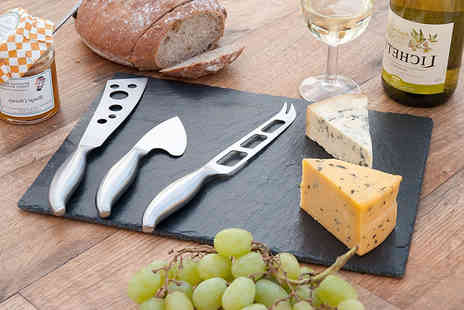 Homeware  - Four piece slate cheeseboard and culinary set - Save 0%