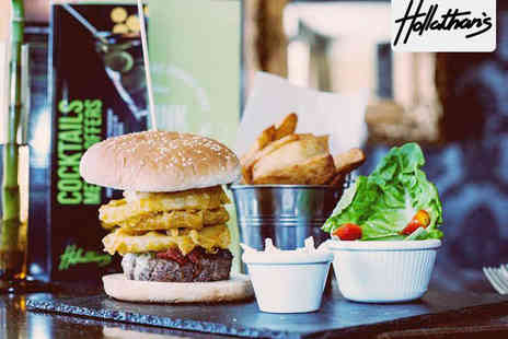 Hollathans - Burger Fries and Glass of Prosecco Each for Two - Save 50%