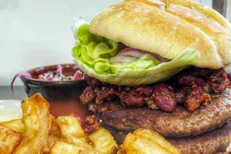 The Bugle Inn - Gourmet Burger Meal For Two - Save 50%