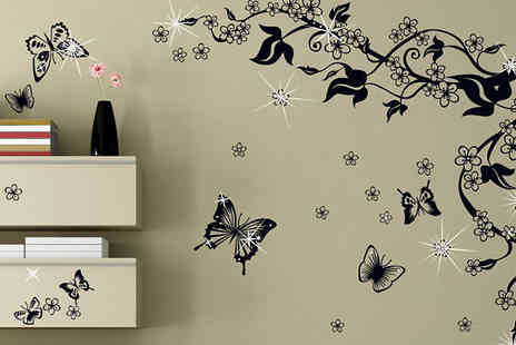 Walplus - Clear Crystal Wall Stickers - Save 73%