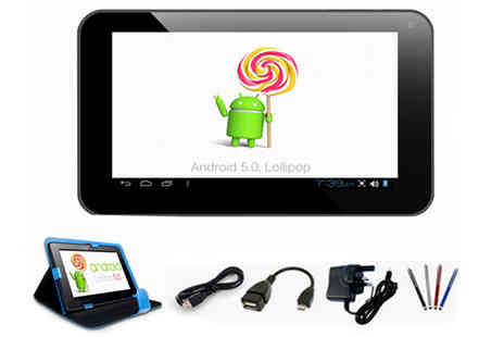 HK J and Y International Trading  - Android 5.0 QuadCore SmartPad Mini 7 inchTablet Bundle - Save 78%