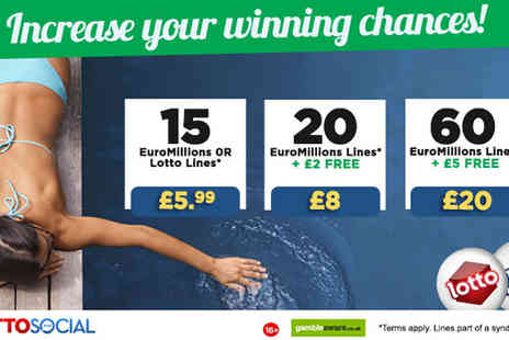 Lotto Social - 20 EuroMillions Tickets - Save 47%