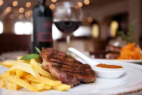 Cooks of Stirling - 10 oz Rib Eye Steak and Wine For Two - Save 57%