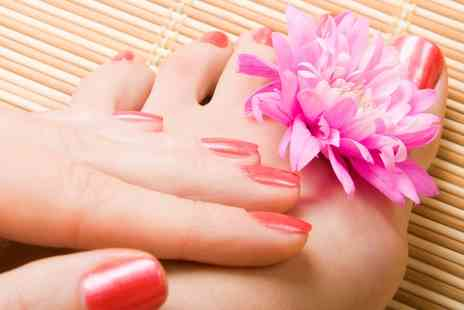 The Luxury Spot Salon - Gel Pedicure With Foot Massage and Optional Gel Manicure With Hand Massage  - Save 69%