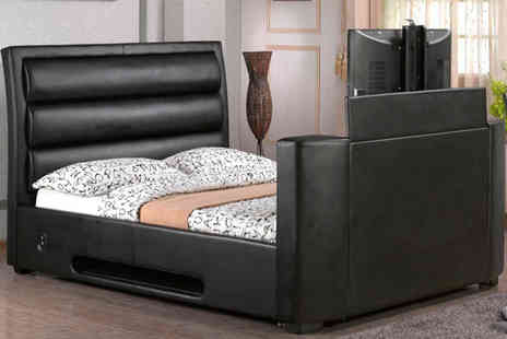Sleep Design - Aurora TV Bed in Black or Brown - Save 62%