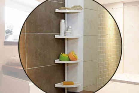 Plus Bee - Four Tier Adjustable Bathroom Shelf Organiser - Save 0%
