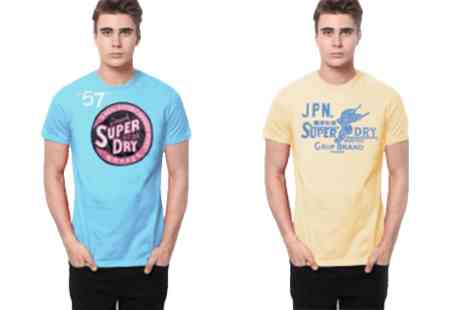 Brands Village -  Choice of Two Superdry T Shirts - Save 0%