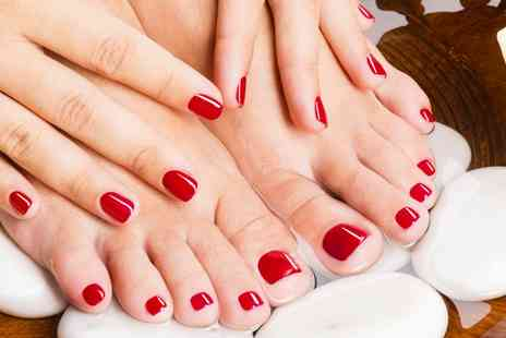 Star Brow - One Session of Shellac Manicure, Pedicure or Both - Save 55%