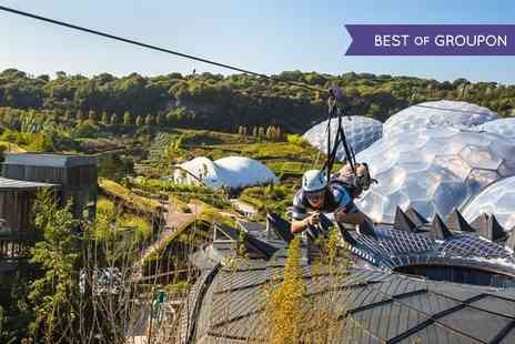 Hangloose Adventure - Zipwire Ride Over the Eden Project  - Save 50%