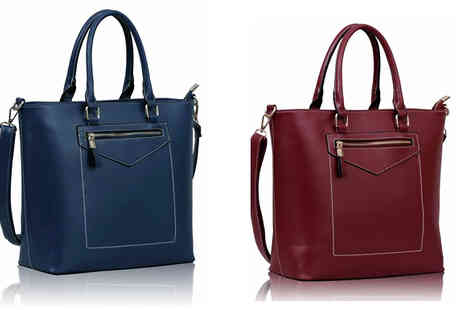 Trendy Look - Contrast Stitch Tote Bag - Save 67%