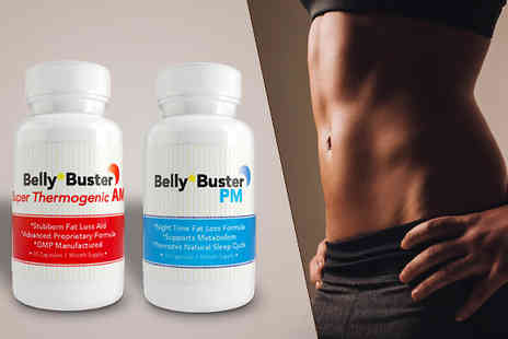 Ultra Supplements - 30 Day Supply of Belly Buster AM/PM Capsules - Save 84%