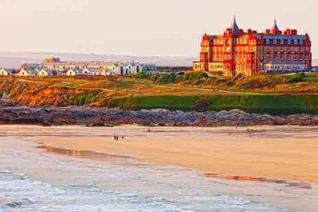 Headland Hotel Co -  Dinner and Bubbly for Two in Cornwall With Ocean Views - Save 23%