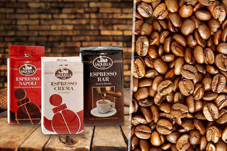 Fresh Coffee - Three 250g bags of fresh ground Italian coffee   - Save 61%