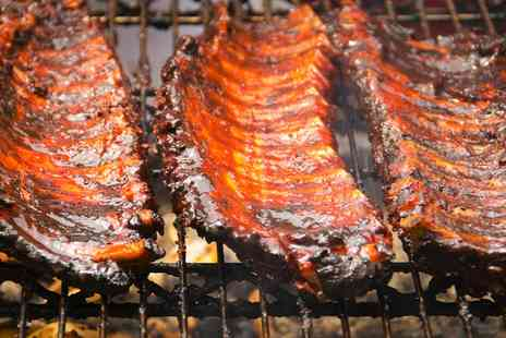Smokin Joint - Ribs, Burger or Hot Dog Meal for Two - Save 55%