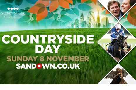Sandown Park Racecourse - Ticket to Sandown Park Racecourse Countryside Day Grandstand on  8 November  - Save 38%