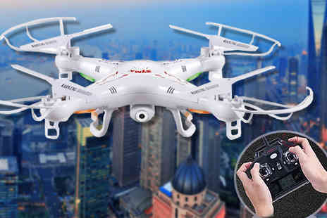 Gizmo Gadgets - RC Quadcopter Aircraft Drone with HD Camera - Save 75%