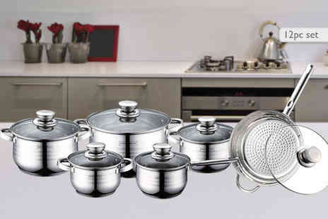 Product Mania - 12pc Royalty Line Switzerland cookware set - Save 0%