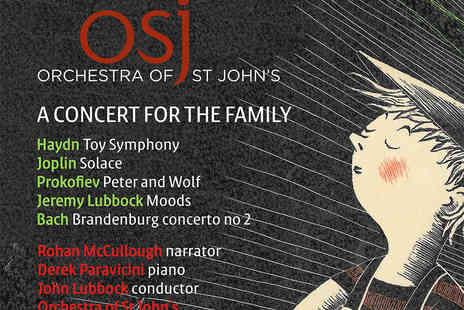 The Orchestra of St John's - Tickets to Orchestra of St Johns Peter and the Wolf  - Save 50%