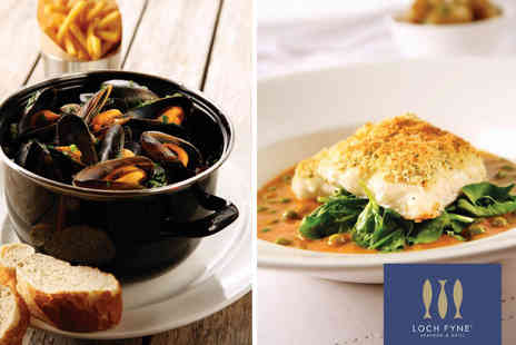 Loch Fyne Seafood & Grill - Loch Fyne Two or Three Course Seafood Meal with Wine - Save 0%