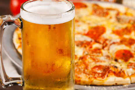 Velvet Jacks - Pizza and Pint of Beer or Glass of Wine Each for Two  - Save 42%