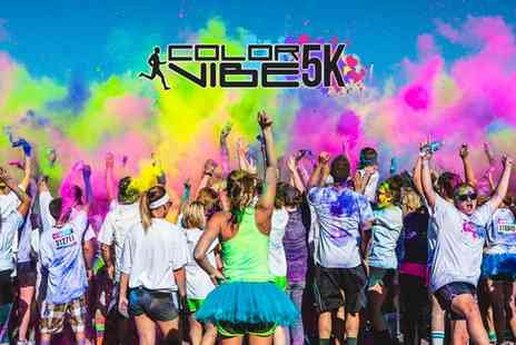 Color Vibe -  Color Vibe Windsor Early Bird 5K Color Run Ticket Plus T Shirt   - Save 48%